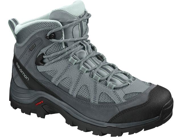 Salomon W's Authentic LTR GTX Shoes Lead/Stormy Weather/Eggshell Blue